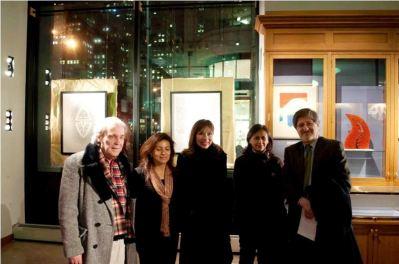 Composer Enrique Ubieta, Artist Monica Sarmiento Castillo, Journalist Patricia Herrera, Viviana and Paulina Arcos de carrion, Francisco Carrion Mena, Ecuadorian Ambassador to the United Nations